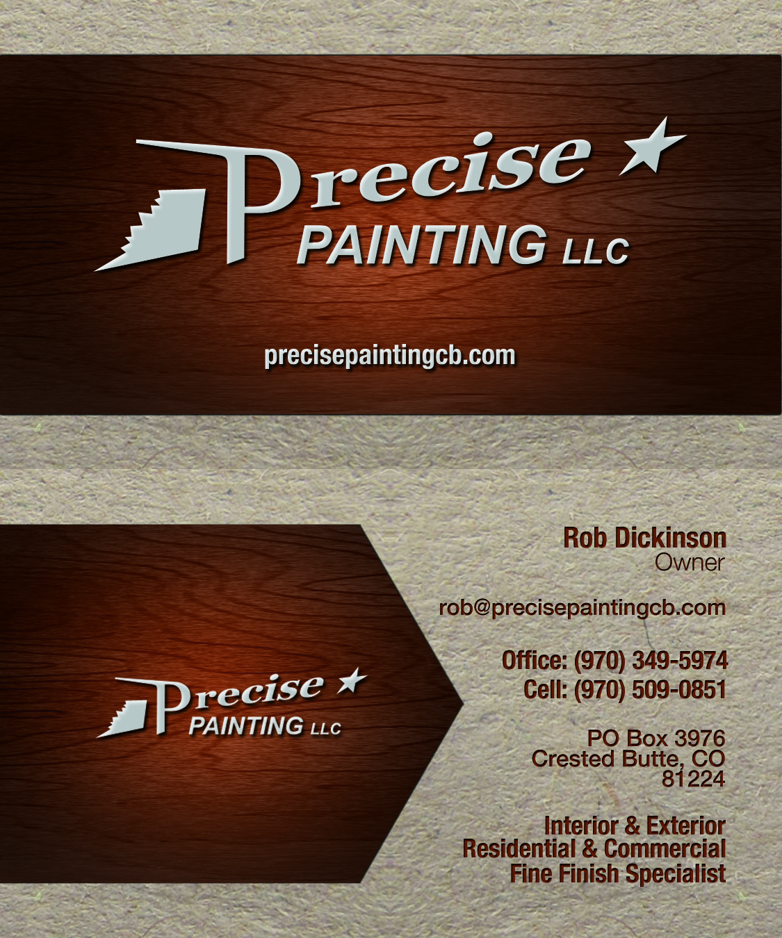 Precise painting business card tmaindesigns project description these new business cards colourmoves